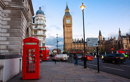 england, london, red, street, telephone, westminster abbey