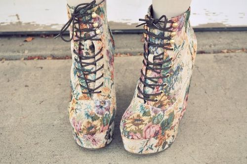 fashion, flower, flower print, print, shoes
