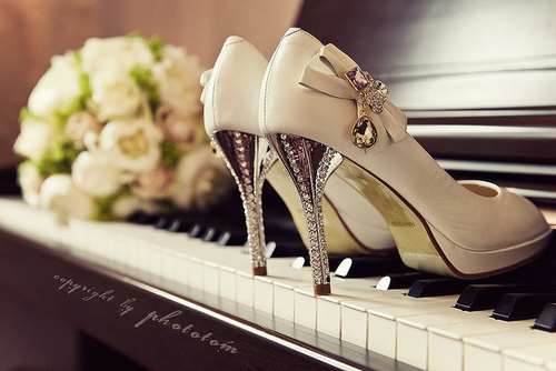 fashion, flowers, heels, piano, shoes, white