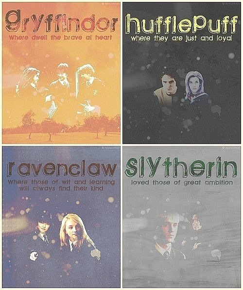 favenclaw, gryffindor, harry potter, hufflepuff, slytherin