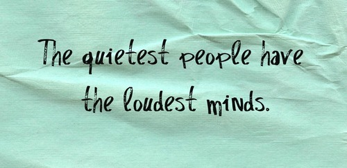 frase, loudest, minds, pensar, people