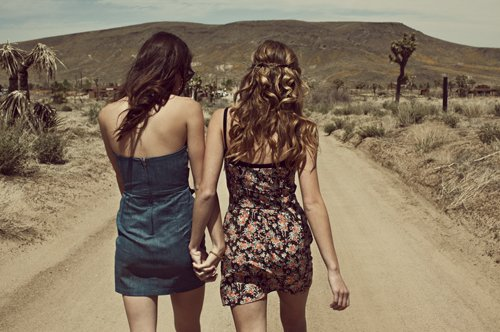 friendship, girls , road, walking