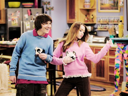 funny, hannah montana, miley cyrus and mitchell musso