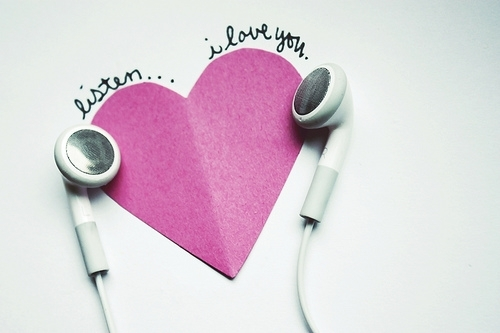 heart, i love you, inlove, listen, love, music, note, quote, text