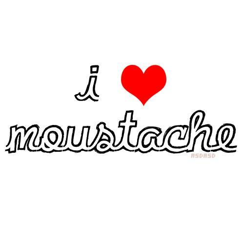 heart, love, moustache