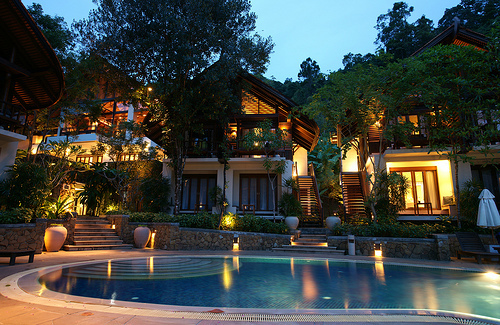 house, lights, luxury, pool