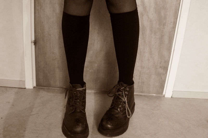 knee highs, second hand, shoes and vintage