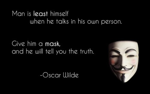 oscar wilde essay the truth of masks Literature network » oscar wilde » the truth of masks -a note on illusion the truth of masks -a note on illusion in many of the somewhat violent attacks that have recently been.