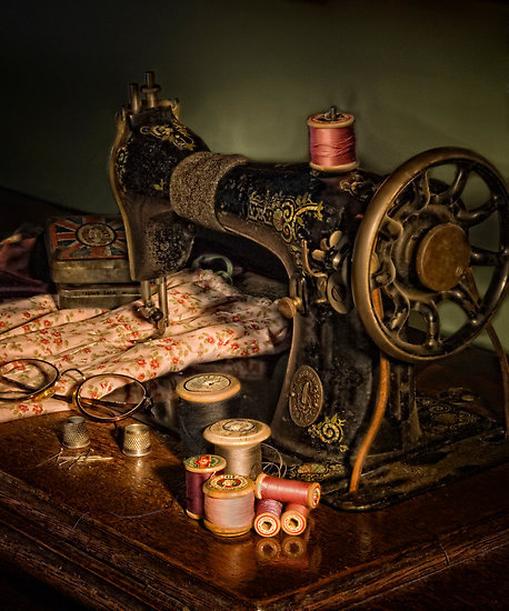 how to thread a vintage sewing machine