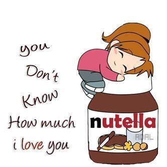 love, nutella, you