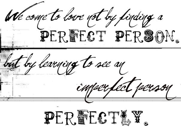 love, perfect, person, quote, text