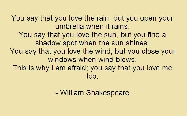 Elegant William Shakespeare Love Quotes