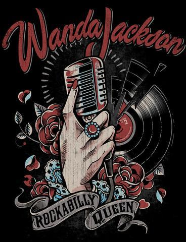 music, queen, rockabilly, t-shirt, wanda jackson