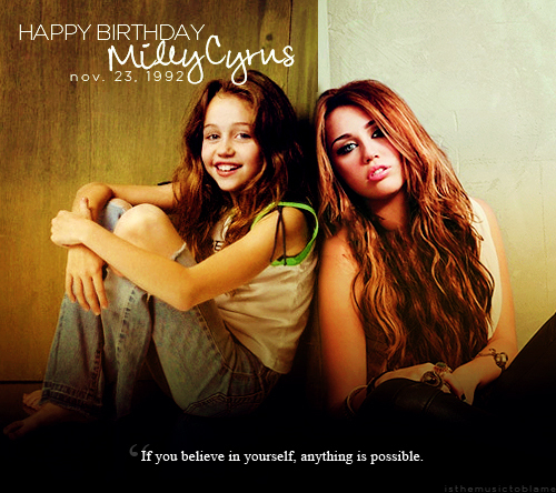 19th birthday, birthday, happy birthday miley, miley, miley cyrus