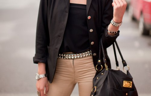 accessories, bag, belt, blazer, bracelet
