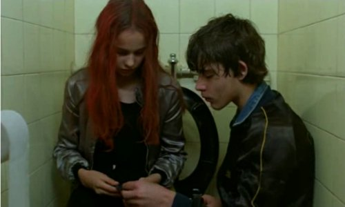 addicted, bathroom, boy, christiane f, cocaine, couple, detlef, drugs, girl, heroin, junkie