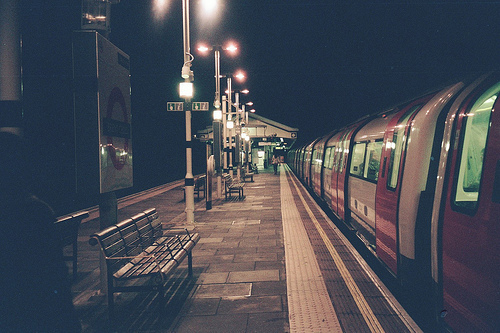 adorable, alone, art, boy, dark, darkness, forever alone, girl, light, man, night, people, subway