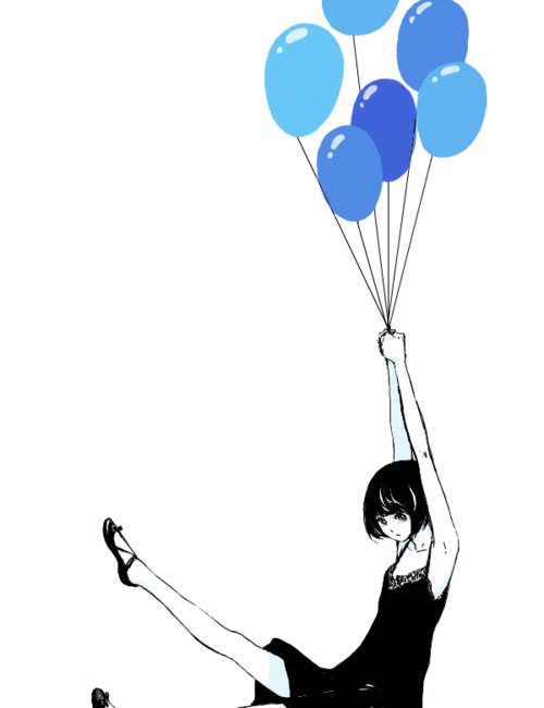 adorable, amazing, anime, art, baloons, beautiful, blue, cute, draw, dress, eyes, fashion, hair, illustration, image, kawaii, legs, perfect, pretty, shoes, style