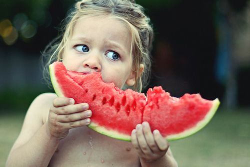 adorable, baby, child, girl, watermelon