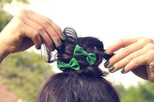 adorable, beautiful, bow, chanel, classy, cute, cutie, fabulous, fashion, fingers, girl, girly, green, hair, lovely, nals, nice, style, wonderful