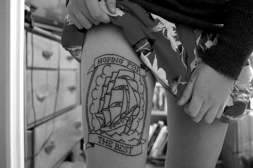 adorable, best, black and white, cute, fashion, for, girl, hoping, leg, pretty, tattoo, the
