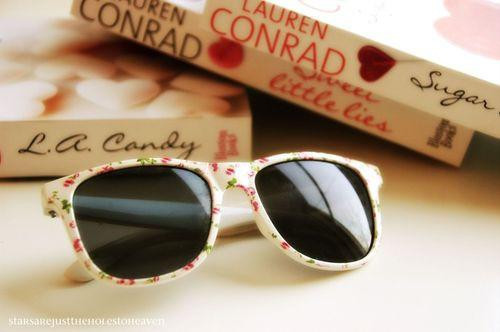 adorable, book, candy, cool, cute, flowers, glasses, lauren conrad, lovely, nice, perfect, pretty, sugar, sweet, vintage
