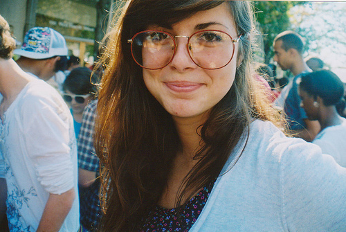 adorable, cute, girl and glasses