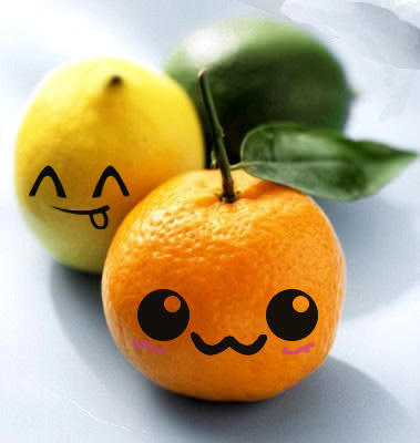 adorable, fruit, lemon, lovely, orange, sweet