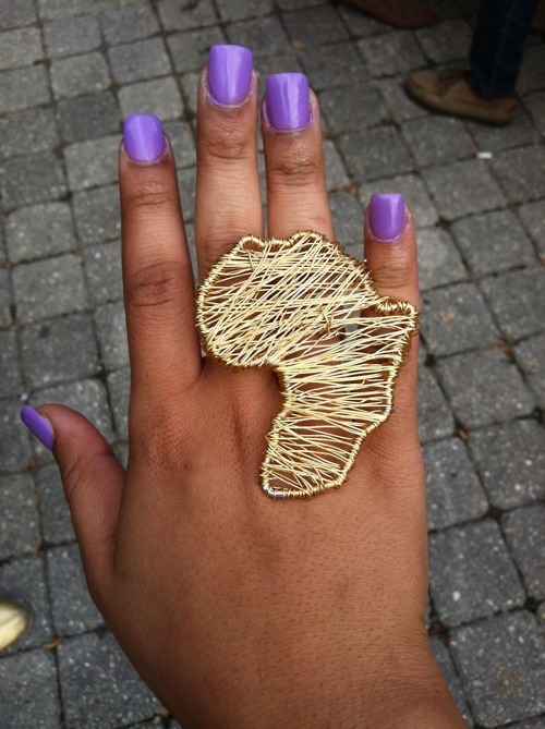 africa, africa ring, nails, purple, purple nails