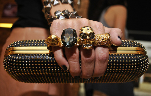 alexander mcqueen, bag, clutch, diamond, fashion, luxury, purse, skull