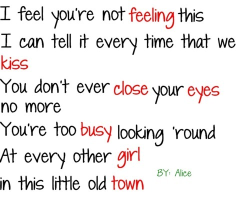 alice, boy, busy, close, eyes, feeling, girl, hurting, kiss, old, quote, quotes, sad, text, town
