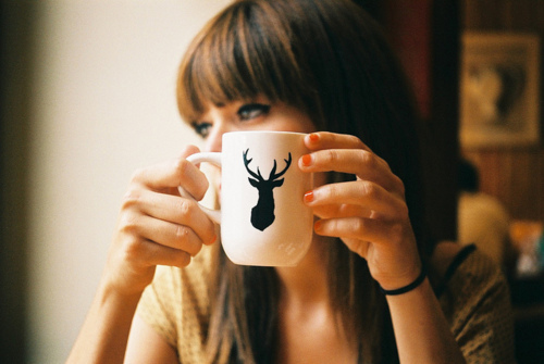 alone, cup, cute, fashion, girl