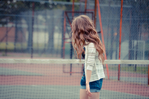alone, girl, lonely, tennis