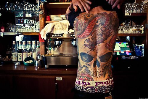 alternative, alternative boy, dragon, guy, skull, tatto, tattos
