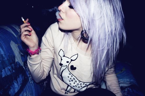 alternative, cigarette, cool, cute, girl
