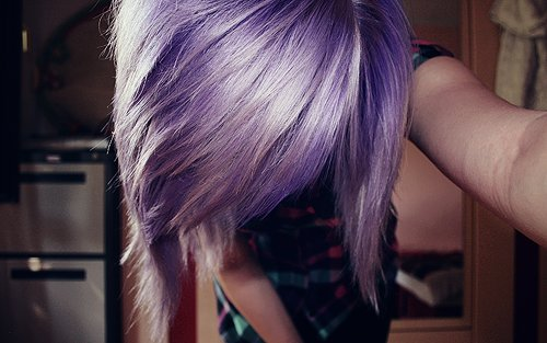 alternative, cool, cute, girl, hair, model, photography, pretty, purple, qesenq, scene, violet