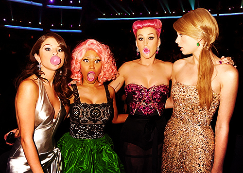 ama, katy perry, nicki minaj, selena gomez, taylor swift