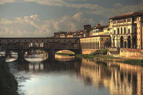 amazing, awesome, beautiful, bridge, city, europe, fashion, firenze, florence, italy, photo, photography, ponte vecchio, river, sky