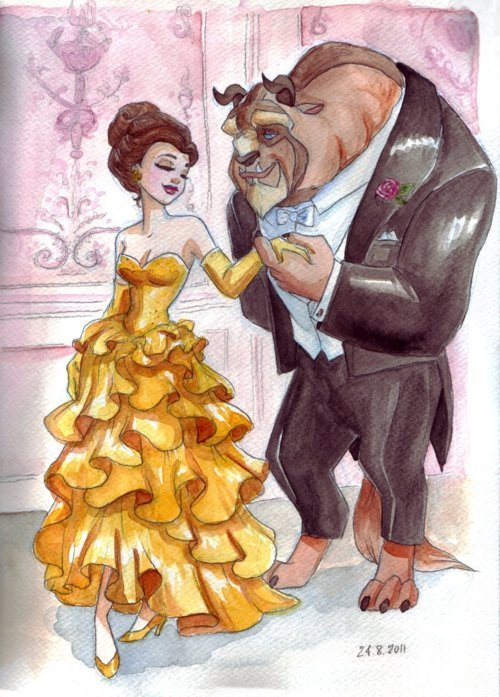 amazing, beast, beauty, beauty and the beast, disney, draw, drawing, paint, painting, yellow