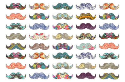 amazing, colorful, colors, mustaches