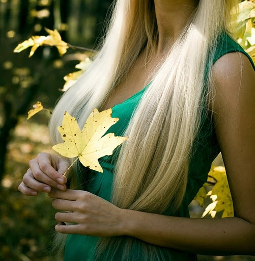 angel, autumn, blonde, cream, dress, fall, fingers, forest, gentle, ginger, girl, hands, leaves, nature, pretty, rain, soft, sun, sunshine, tear, vintage, weather, yellow