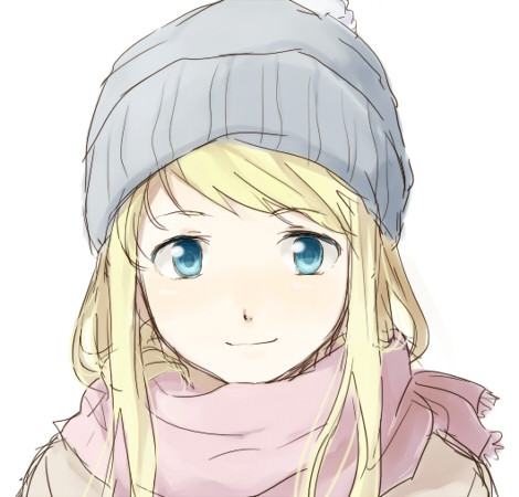 Anime beautiful beauty blonde blue eyes fan art fullmetal