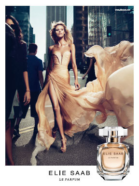 anja rubik, beige, blonde, city, dress, elie saab, fashion, flowy, gorgeous, gown, magazine, model, perfume, silk, thin, wind