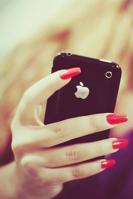 apple, classy, iphone, ipod, long nails