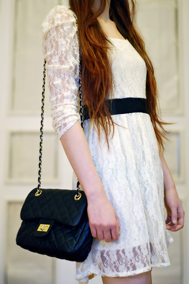 ariadna, bag, dress, ginger, girl