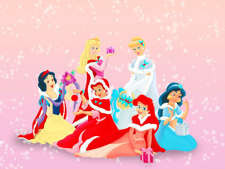 ariel, aurora, christmas, cinderella, disney