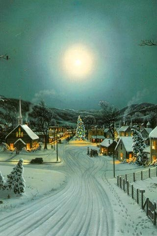 art, beautiful, christmas, house, houses