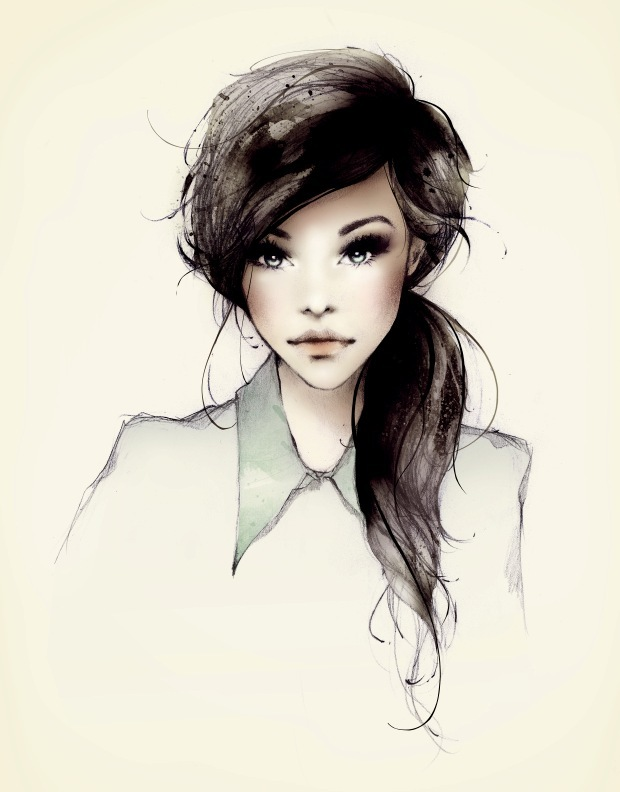 art, dewdrop, drawing, fashion, fashion illustration