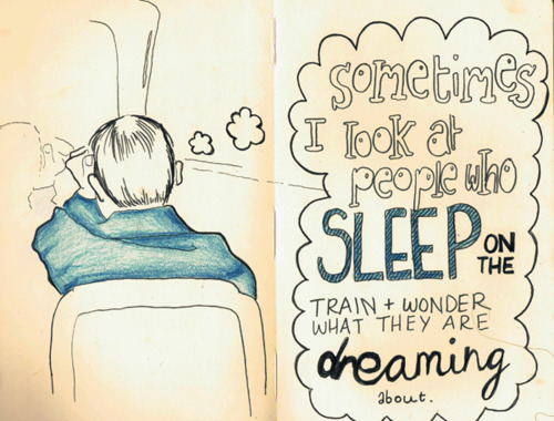 art, drawing, dream, illustration, sleep, text, textual, train, typography, words, writing
