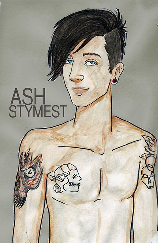ash, ash stymest, boy, comic, guy, model, sexy, stymest, tattoo
